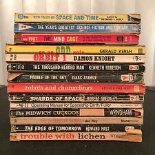 Lot Of 14 Vintage Science Fiction Paperback Books Anthologies Asimov Van Vogt
