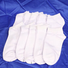 10 Pairs Mens Cotton Low Cut Ankle Socks Sports Casual No Patch Type White #E1