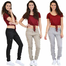 Cotton Blend Cargos 30L Trousers for Women