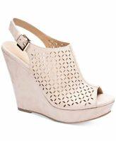 Chinese Laundry Women's Monique Peep Toe Wedge Platform Sandals Sand US 10M