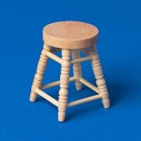 Dolls House 12th Scale - Pine Stool