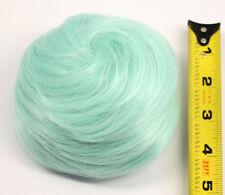 5'' Spiral Drawstring Bun w/ Combs Mint Green Cosplay Wig Hair Accessory NEW