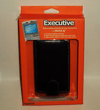 Executive Smartphone Stylish Leather Case For MOTO Q With Belt-Clip BLACK NIP