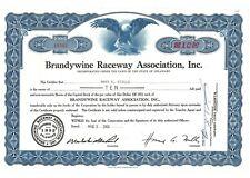 Stock Certificate of Brandywine Raceway Association