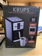 New Krups Savoy Turbo 12 Cup Programmable Coffee Maker EC4150