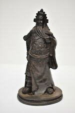 Chinese Hand Carved Lacquer Resin Emperor Guan Yu Warrior Figurine Statue