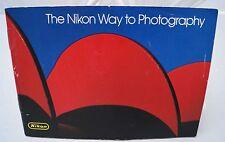 "Customer sales brochure ""The Nikon Way to Photography"" 1970's"