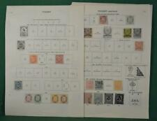 TURKEY STAMPS SELECTION ON 16 ALBUM PAGES  (P5)