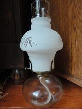 Kerosene Oil Lamp Kaadan LTD Frosted Etched Chimney Vintage