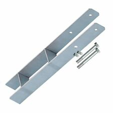9-er Set Pfostenträger H-Anker 9 cm Pfosten, Betonanker H-Form + Schrauben