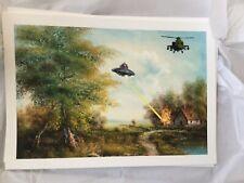 Mason Storm UFO NO YOU FO  -Mini print signed on reverse