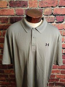 Under Armour Men's 4XL XXXXL Gray Black Short Sleeve Golf Polo Shirt ⛳