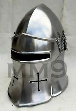 Halloween Medieval Larp Visor Barbuta Armour Helmet Handmade replica Costume