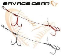 Savage Gear DOUBLE STINGERS Predator Lure Fishing Tackle Wire Treble Hooks Pike