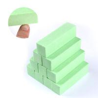 10 Pcs Green Sanding Sponge Nail Buffers Files Block Grindig  DIY Tool