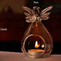 Angel Glass Crystal Hanging Tea Light Candle Holder Home Decor Candlestick L A
