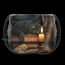THE WITCHING HOUR Black Cat Shoulder / Messenger Fantasy Art Bag By Lisa Parker