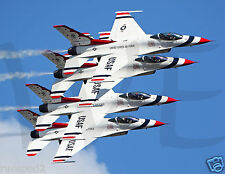 Jets/ Thunderbirds Flying in Unison Poster/17x22 inch Reproduction/Jet Airplane