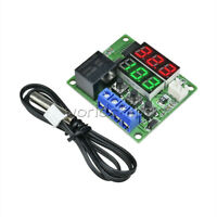 12V DC Relay Dual LED Digital Thermostat Temperature Controller Replace W1209