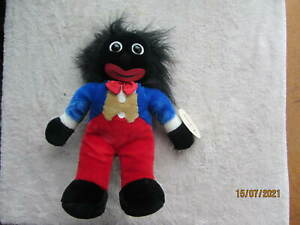Vintage African American Black plush Doll by tomfoolery