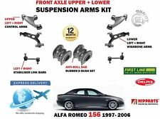 FOR ALFA ROMEO 156 1997-2006 FRONT AXLE UPPER LOWER WISHBONE CONTROL ARMS LINKS