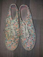 Floral Print Vans Trainers Shoes Size UK 7