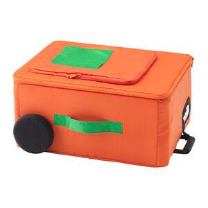 IKEA KIDS SMART FLYTTBAR Storage Box- Orange