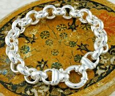 """Sterling Silber Chunky Rolo programmiert Armband - 925 Sterling Silber - 8"""""""