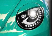 UNPAINTED ANGRY TYPE HEADLIGHT BROWS EYELIDS EYEBROWS FOR  VW BEETLE 2011-2016