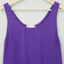 ZIMMERMANN  | Womens Silk Purple Tank Top  [ Size 0 or AU 6 / US 2 ]