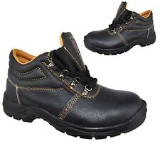 MENS STEEL TOE CAP TRAINERS SHOES SAFETY WORK STEEL MIDSOLE BLACK BOOTS SIZE UK