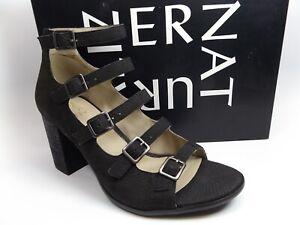 Naturalizer Women's Imogene Gladiator Sandal ,Black SZ 8.5 WIDE, NEW,  12280