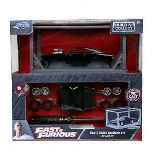 Jada Fast & Furious Build n Collect Model Kit Dom's Dodge Charger R/T 1/55 Scale