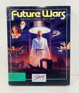 """Future Wars: Adventures in Time Interplay IBM PC Big Box, Complete 5.25"""""""
