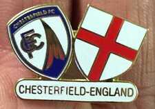 CHESTERFIELD ENGLAND ST GEORGE TWIN SCUDI smalto pin badge