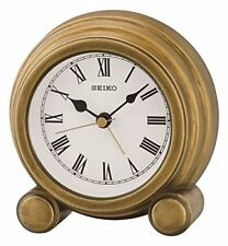 Seiko Alarme Horloge de Cheminée finition Antique en bois Or