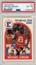 1989-90 NBA Hoops #21 Michael Jordan PSA 8 Graded CARD Card Bulls All-Star