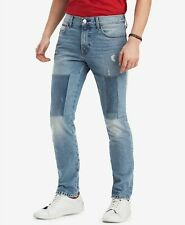 NEW MENS TOMMY HILFIGER STRAIGHT FIT PATCHED BLUE DALE JEANS 36 X 34