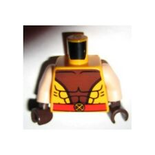 LEGO - Minifig, Torso Muscles, Outline Brown Center w/ X Belt Buckle - Wolverine