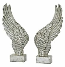 Pair of Angel wings 50cm Silver finish large decorative freestanding.Impressive.