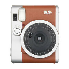 Brown FujiFilm Instax Mini 90 NEO CLASSIC Instant Photos Films Polaroid Camera