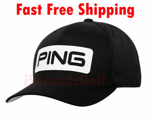 Golf Ping Tour Classic Black Hat Cap Adjustable Snapback one size fits all Mens
