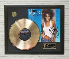 """Whitney Houston Framed Lp Record Reproduction Signature Display """"M4"""""""
