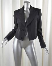 DIRK BIKKEMBERGS Womens Black Long-Sleeve Cropped Blazer Jacket 44/8 NEW