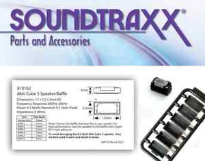 Soundtraxx ~ Mini Cube 3 ~ New 2021 ~ 8 Ohm Oval Speaker & Baffle Kit  ~ 810162
