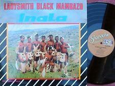 Ladysmith Black Mambazo ORIG CAN LP Inala NM '86 Afro Folk Worldbeat Mbube