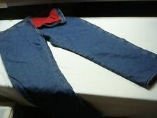 WRANGLER RUGGED WEAR WORKWEAR RED FLANNEL LINED OUTDOOR JEANS MEN'S SIZE 46X32