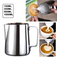 A/7:Milchkännchen Edelstahl Espresso Aufschäum Kännchen Milch Kanne Kaffeetasse