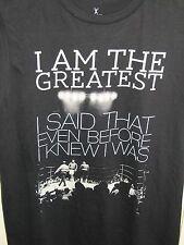Men's Small MUHAMMAD ALI Boxing 100% Cotton Crew Black T Shirt I am the Greatest