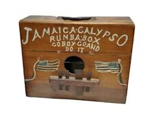 Handmade Vintage Wood Jamaican Rumba Box Folk Musical Instrument Americana Folk